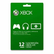 Xbox Live Gold 12 Meses 1 Ano Cartão Cód 25 Dígitos Imediato