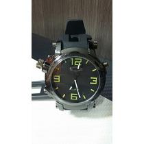 Relógio Masculino Esporte De Luxo Oakley Gearbox Preto Verde