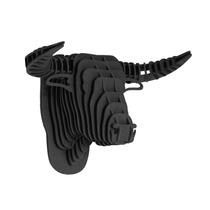Toro Negro Cabeza Decorativa Animal Decoracion Valchromat8m