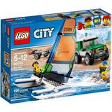 Lego City 60149 Jipe 4x4 Com Barco Catamarã 198 Peças