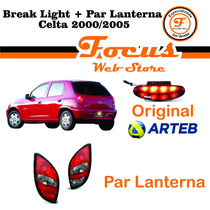Kit Lanternas + Luz Freio Break Light Celta 2000 A 2005 F