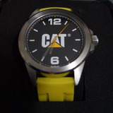 Reloj Caterpillar De Acero Inoxidable Con Correas Silicon