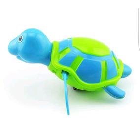 Juguete De Cuerda Tortuga Nadadora Ideal Para Bañera Azul