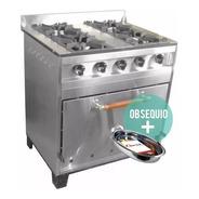 Cocina Industrial Eg 4 H 80 Cm Acero Inox Horno Pizzero