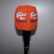 Capuchon Para Microfonos Antipop Flockedo C/logo En 4 Caras