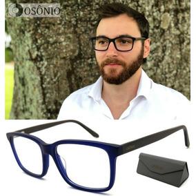 3d8afdaed2d6d Armaçao Oculos De Grau Masculino Armacoes - Óculos Azul no Mercado ...