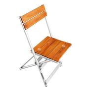 Silla Plegable Aluminio Madera Balcon Jardin Camping Playa