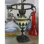 Abajour Luminaria De Mesa Antiga - Bronze & Faiança Linda D+