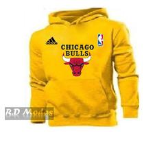 Blusa Capuz Canguru Chicago Bulls Nba Basquete Frete Grátis