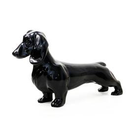 Manequim Dog Duchshund Exclusive Black Piano Em Fibra