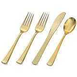 Adorn Plástico, Talheres De Ouro | Mesa | Premium Descartá