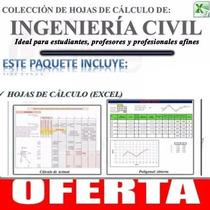 Hojas De Cálculo Excel, Aplicadas A Ingeniería Civil