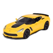 Miniatura Carro - Corvette Z06 2015 - Amarelo - Maisto