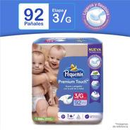 Pañales Pequeñín Premium Touch Etapa 3 X 92 Und