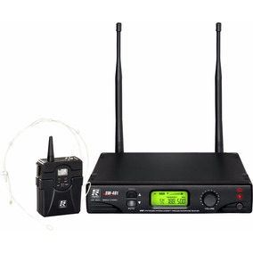 Microfone Headset Bory Pack Auricular Uhf Sw 481 Staner