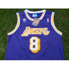Jersey Los Angeles Lakers Clasica Kobe Bryant 8 Morada Retro