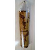 Artesanato Em Bambu Gigante Pirografado - Placa Decorativa