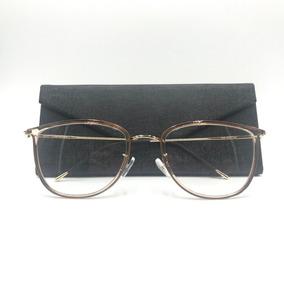 3d93cbf6ddaa1 Armacao Oculo Feminina Quadrada Dourado - Óculos no Mercado Livre Brasil