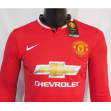 Camiseta Manchester United 14/15 Manga Larga Nike