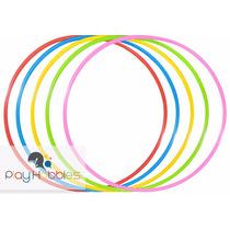 24 Peças - Bambolê Arco Infantil Reforçado 67 Cm Colorido