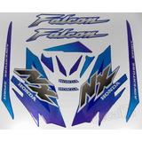 Kit Adesivos Falcon Nx4 2000 Azul Resinado 00697