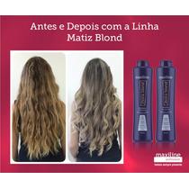 Kit Matiz Blond Shampoo,condicionador Maxiline 2x300ml