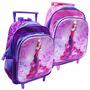 Mochila Feminina Escolar Princesa Com Rodinha 3d Infantil 12