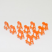 Lote 10 Unidades Cavalete Miniatura Escala 1/64