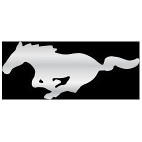 Adorno Caballo Mustang 6.68x3.07 Inoxidable No.587