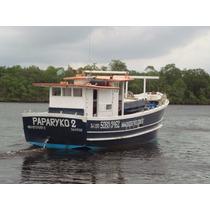 Barco Traineira Em Ipê Casco Injetado