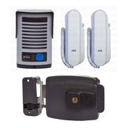 Porteiro Eletrônico Agl Com Dois Interfones P100 + Fechadura
