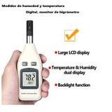 Termometro Digital Medidor Temperatura Y Humedad Higrometro