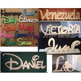 Letras De Madera Nombres Personalizados Y Figuras En Mdf