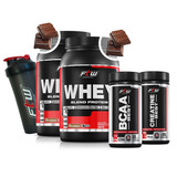 Kit 2x Whey Protein Bcaa Creatina Ftw Todos Os Sabores!!!