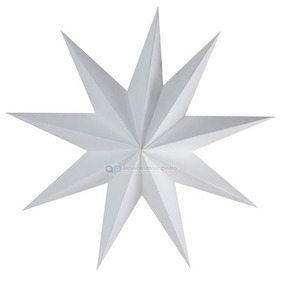 Paquete De 10 Pantallas Estilo Estrella Color Blanco