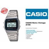 Reloj Casio A158w Plata Retro Vintage 100% Original