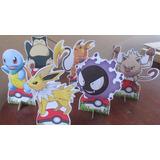 Kit 40 Display Pokemon Go Decoração De Mesa Festas