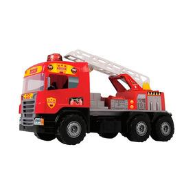 Caminhão Super Bombeiro Com Luzes E Sirene - Magic Toys