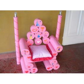 Sillon -trono Princesa- Artesanal- Con Luces- Para Niñas