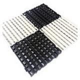 Piso Estrado Palete Plastico 50 X 50 X 5 Cm Pct 20 Un Preto
