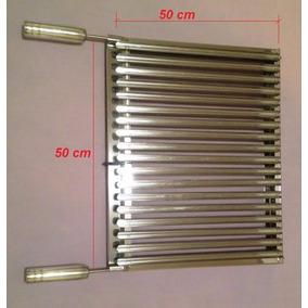 Grelha Argentina - Aço Inox - 50 X 50 Cm