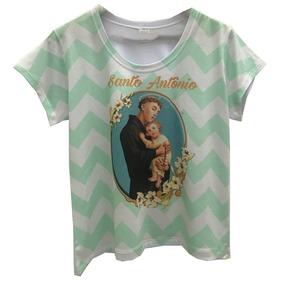 Blusa Feminina Gospel Santo Antônio T Shirt Frete Grátis