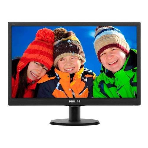"""Monitor Philips V 193V5LHSB2 LCD 18.5"""" preto 110V/220V"""