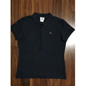 7e38e9329cc29 Camisa Feminina Lacoste Original - Camisas Femininas Azul marinho no ...