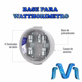 Base Para Medidor Watthorimetro 4 Terminales 600v 60 Hz