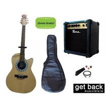 Combo Guitarra Electroacustica Amplificador Funda Acc Envio
