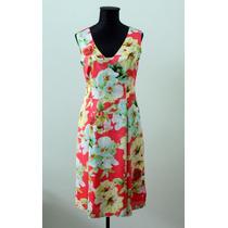 Elegante Vestido Forrado Floreado Janet Wise - Envios
