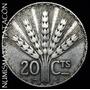 Moneda De Uruguay 20 Centavos 1930 De Plata - Muy Buena