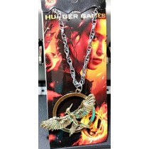 Collar Sinsajo Dorado Hunger Games Metal