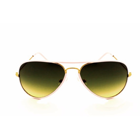 e1b69714f0bef Oculos De Sol Aviador Drop Me Branco Lente Degrade Verde